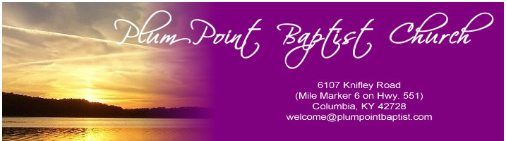 Plum Point Baptist Church banner